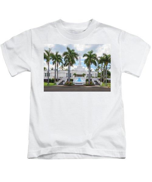 Kona Hawaii Temple-day Kids T-Shirt