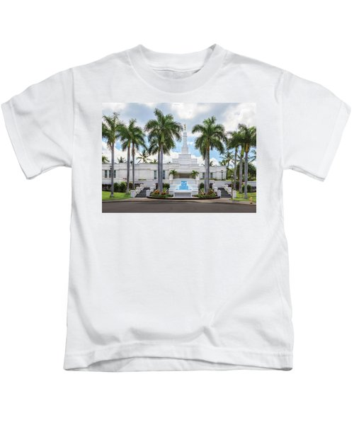 Kona Hawaii Temple-day Kids T-Shirt