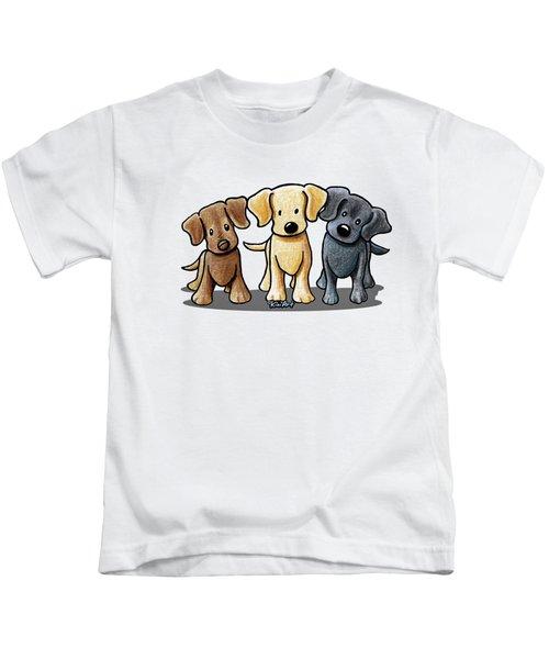 Labrador Beach Trio Kids T-Shirt