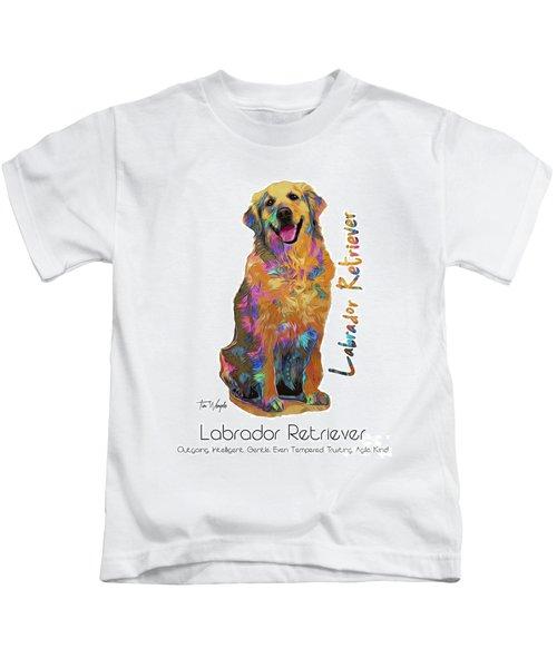 Labrador Retriever Pop Art Kids T-Shirt