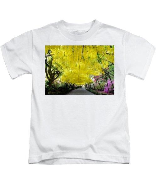Laburnum Arch, Bodnant Garden Kids T-Shirt