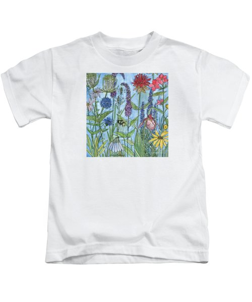 Lady Slipper In My Garden  Kids T-Shirt
