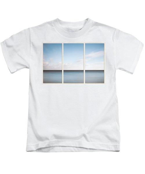 Lake Michigan Minimalist Triptych Kids T-Shirt