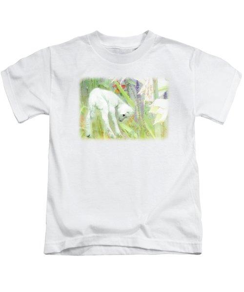 Lamb And Lilies Kids T-Shirt