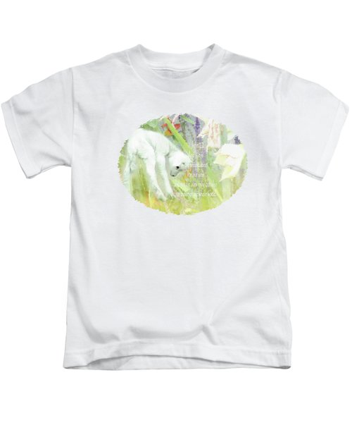 Lamb And Lilies - Verse Kids T-Shirt by Anita Faye
