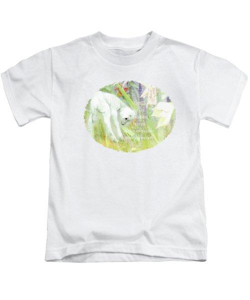 Lamb And Lilies - Verse Kids T-Shirt by Anita Faye