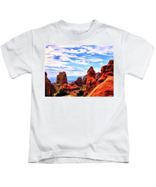 Land Of Moab - Watercolor Kids T-Shirt