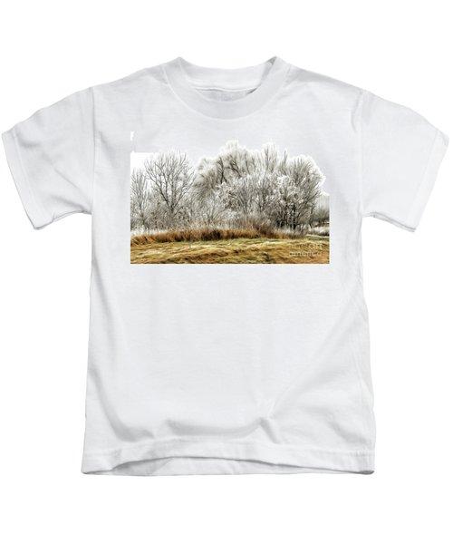 Landscape In Winter Kids T-Shirt