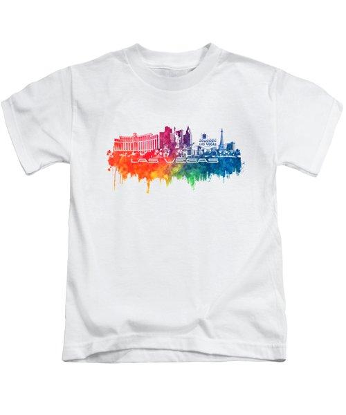 Las Vegas Skyline City Color Kids T-Shirt