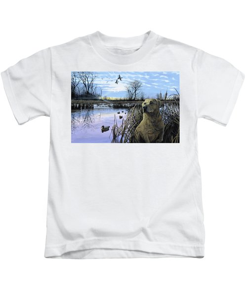 Late Season Mallards Kids T-Shirt