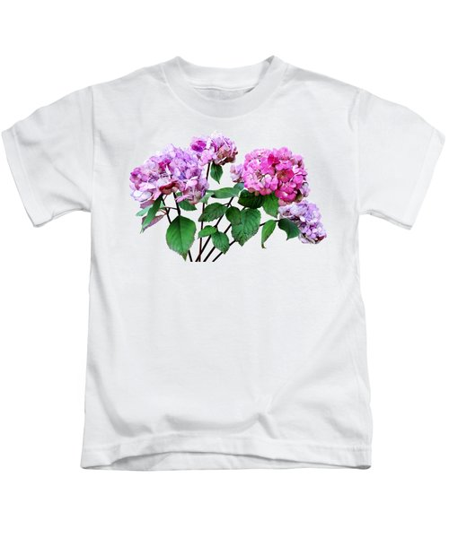 Lavender And Rose Hydrangeas Kids T-Shirt