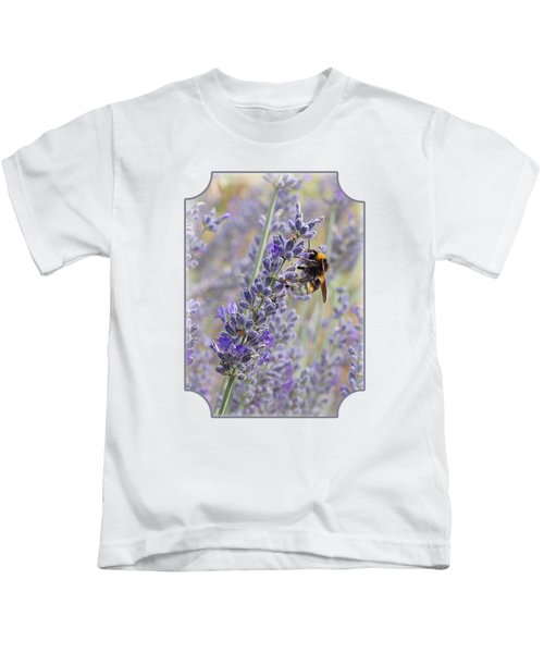 Lavender Bee Kids T-Shirt