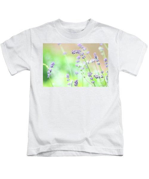 Lavender Garden Kids T-Shirt