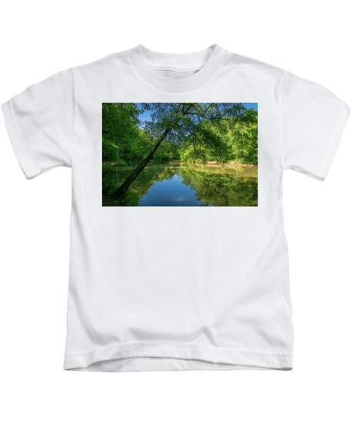 Lazy Summer Day On The River Kids T-Shirt