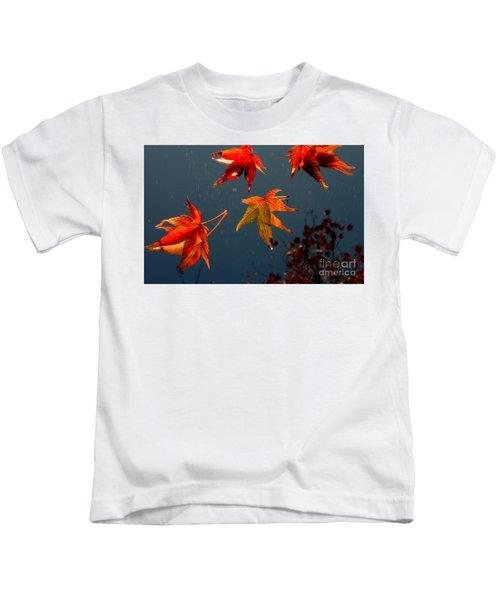 Leaves Falling Down Kids T-Shirt