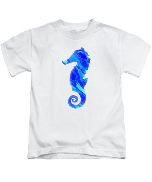 Left Facing Seahorse Bt Kids T-Shirt