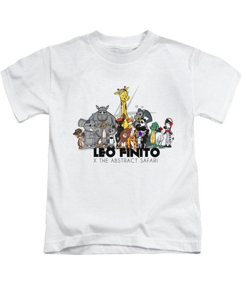 Leo Finito And The Abstract Safari Kids T-Shirt