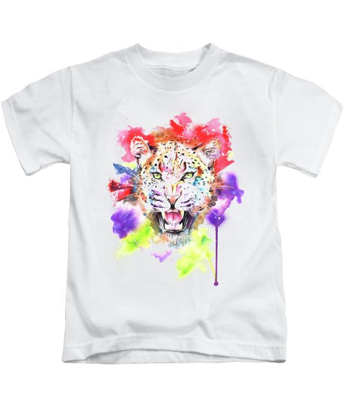 Leopard Kids T-Shirt by Isabel Salvador