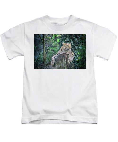 Leopard Lookout Kids T-Shirt