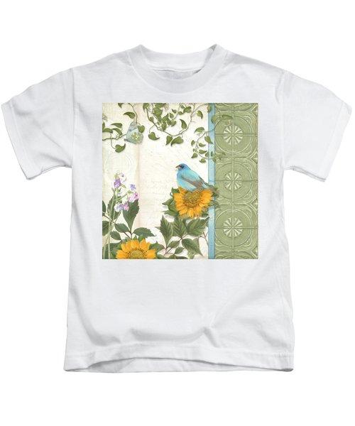 Les Magnifiques Fleurs Iv - Secret Garden Kids T-Shirt by Audrey Jeanne Roberts