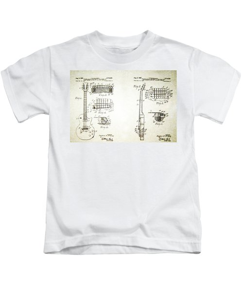 Les Paul Guitar Patent 1955 Kids T-Shirt