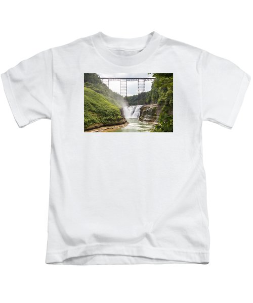Letchworth Upper Falls Kids T-Shirt