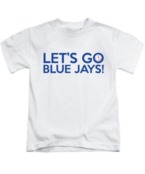 Let's Go Blue Jays Kids T-Shirt by Florian Rodarte