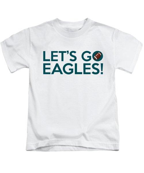 Let's Go Eagles Kids T-Shirt by Florian Rodarte