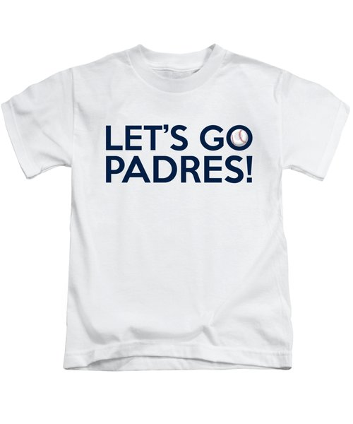 Let's Go Padres Kids T-Shirt by Florian Rodarte