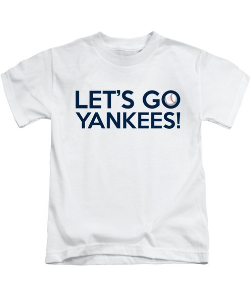 Let's Go Yankees Kids T-Shirt by Florian Rodarte