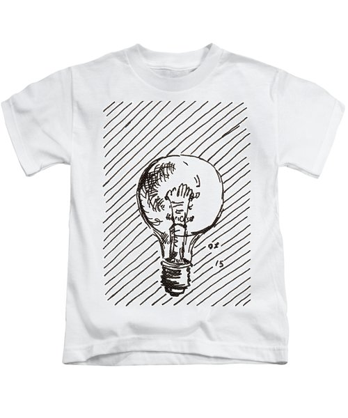 Light Bulb 1 2015 - Aceo Kids T-Shirt