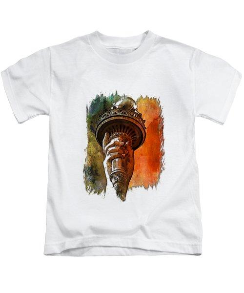 Light The Path Earthy Rainbow 3 Dimensional Kids T-Shirt