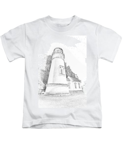 Lighthouse In Oregon Kids T-Shirt