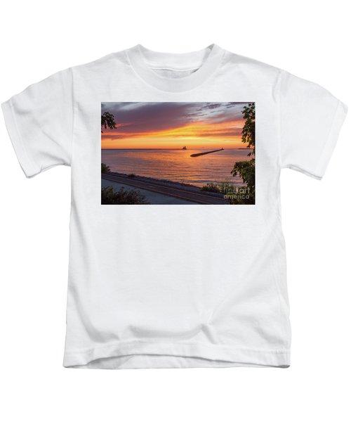 Lighthouse Sunset Kids T-Shirt