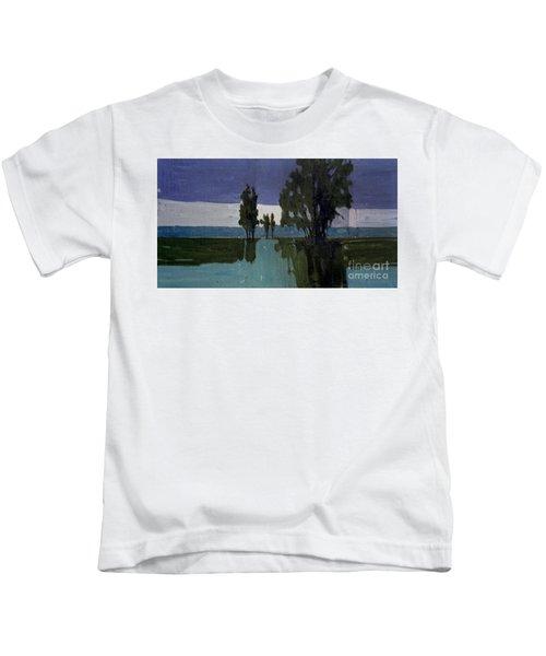 Lights On The Horizon Kids T-Shirt