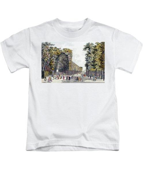 Limegrove Walk, Augarten, Vienna, 1790s Kids T-Shirt