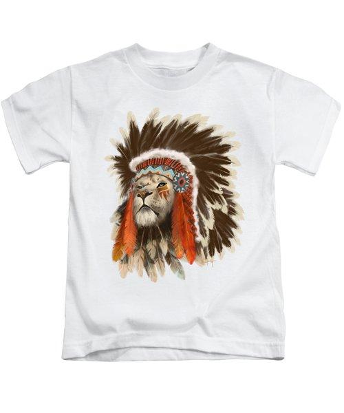 Lion Chief Kids T-Shirt