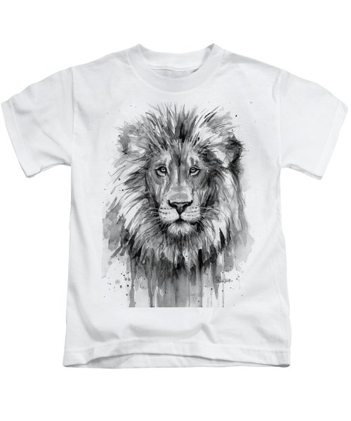 Lion Watercolor  Kids T-Shirt