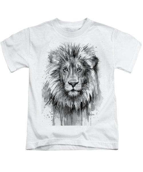 Lion Watercolor  Kids T-Shirt
