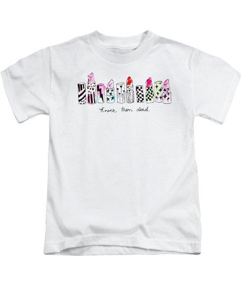 Lipstick Galore Kids T-Shirt by Elizabeth Taylor