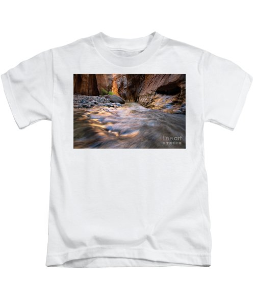 Liquid Gold Utah Adventure Landscape Photography By Kaylyn Franks Kids T-Shirt