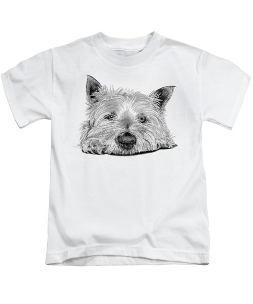 Little Dog Kids T-Shirt by Sarah Batalka