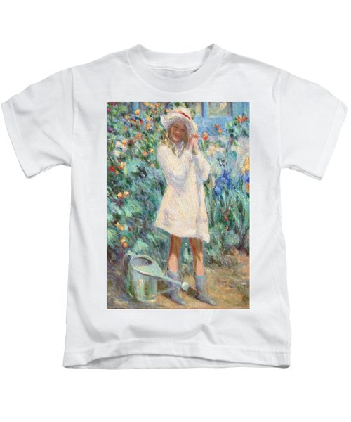 Little Girl With Roses / Detail Kids T-Shirt