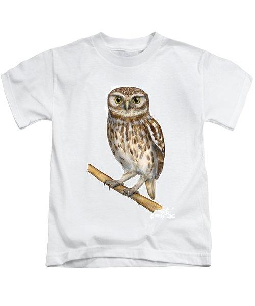 Little Owl Or Minerva's Owl Athene Noctua - Goddess Of Wisdom- Chouette Cheveche- Nationalpark Eifel Kids T-Shirt