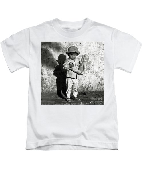 Little Vietnamese Girl Playing With Her Doll Kids T-Shirt