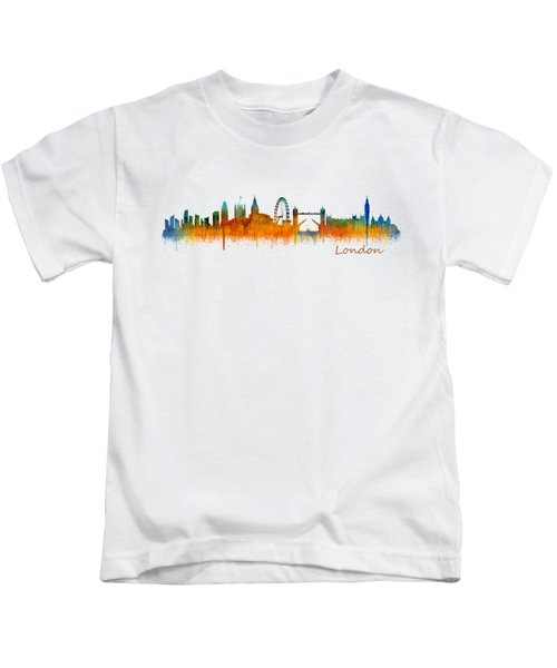London City Skyline Hq V2 Kids T-Shirt by HQ Photo
