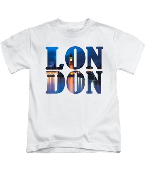 London Letters Kids T-Shirt by Matt Malloy