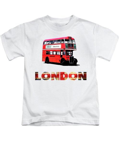 London Red Double Decker Bus Tee Kids T-Shirt