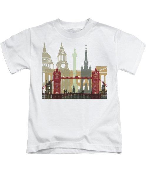 London Skyline Poster Kids T-Shirt