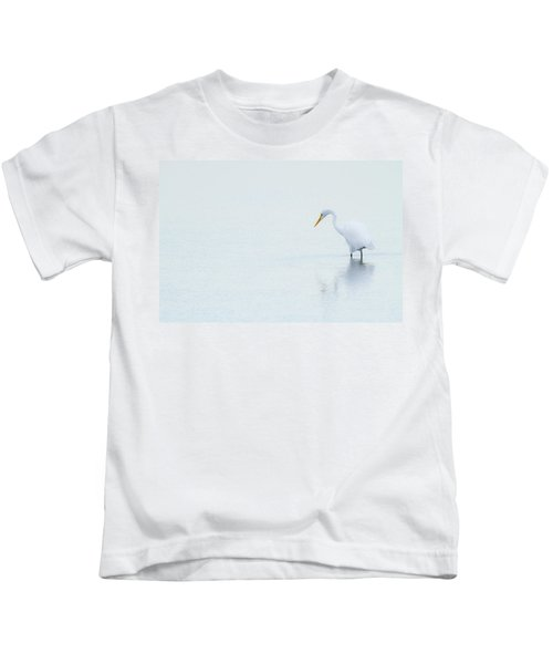 Lonely Egret Kids T-Shirt